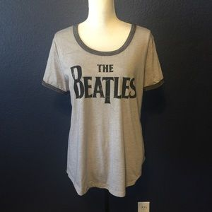 THE BEATLES SOFT BURNOUT GRAPHIC TEE